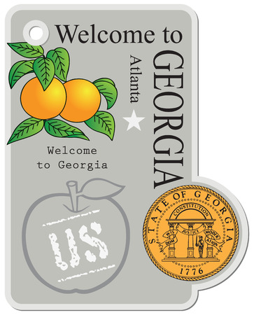 Label the state of Georgia, United States of America. Welcome to Georgia - Mark.
