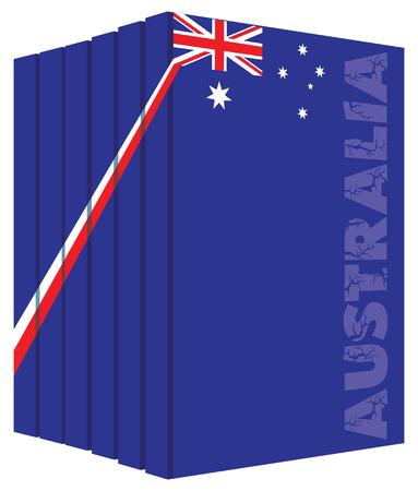 Libros sobre el país de Australia. la bandera del símbolo. Foto de archivo - 53631390