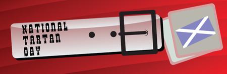 Banner for the National Tartan Day, celebrated on 6 April. illustration.