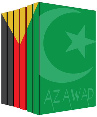 Books about the country of Azawad. Symbol flag.