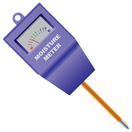 Outdoor Soil Moisture Sensor Meter. illustration.