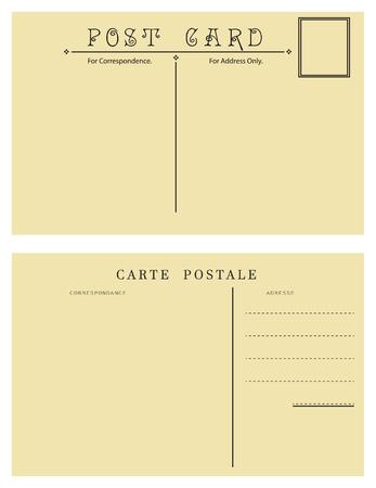 addresses: Backside of vintage postcard for placing messages and addresses.