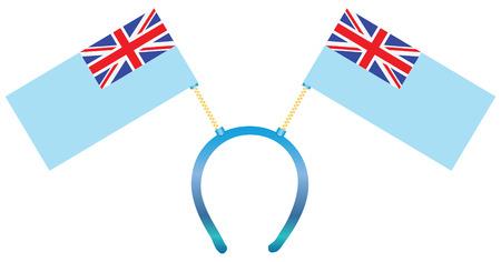 fiji: Headdress with a flag of Fiji for holiday.