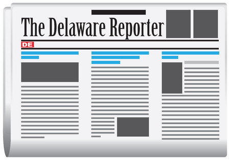 gazette: The Delaware Reporter - Abstract newspaper Delaware State, United States of America.