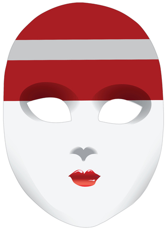 A symbolic mask, a bandana in the form of the national flag, the image of the state Latvia Illusztráció