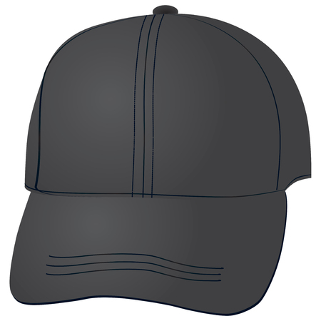 hat with visor: Illustration cloth a baseball cap on a white background. Illustration