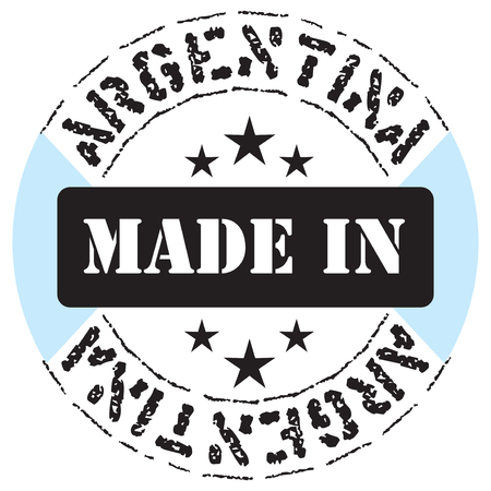 The circular symbol of Made in Argentina