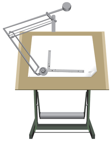 vernier: Drawing board for drawing with paper for design.
