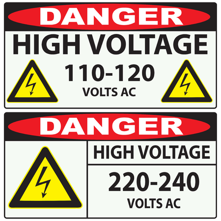 danger: Options for preventing high voltage Danger.