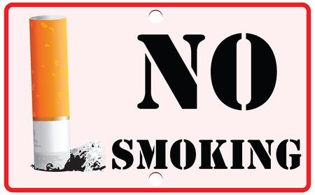 Cigarrillo en el soporte, Muestra de no fumadores. Foto de archivo - 54085645