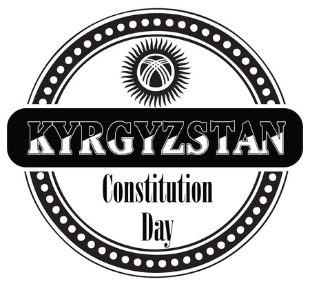 constitution: Constitution Day in Kyrgyzstan, celebrated on May 5. Illustration