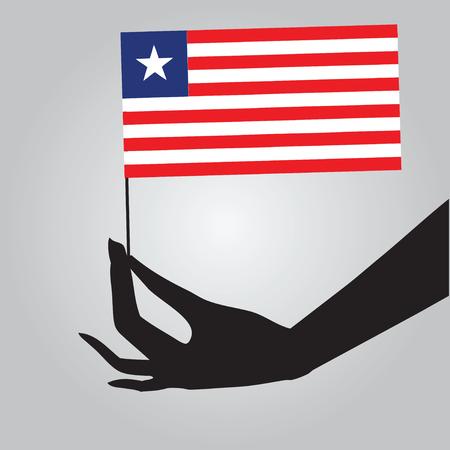 라이베리아의 국기입니다. 벡터 일러스트 레이 션. 일러스트