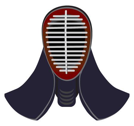 samourai: masque d'escrime japonaise à pratiquer le kendo. Escrime masque de protection.