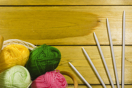 basket embroidery: The inverted pad with the different colored threads and spokes for knitting