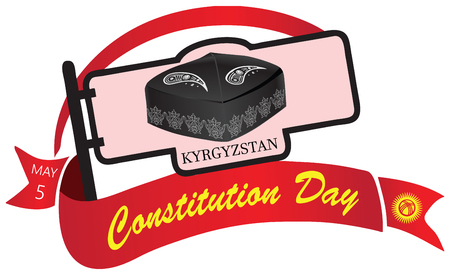 constitution day: Banner Constitution Day in Kyrgyzstan, celebrated on May 5. Vector illustration. Illustration