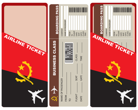 departing: Business Class Flight departing flights to Angola. Ticket included with the envelope and the authentic character of the country.