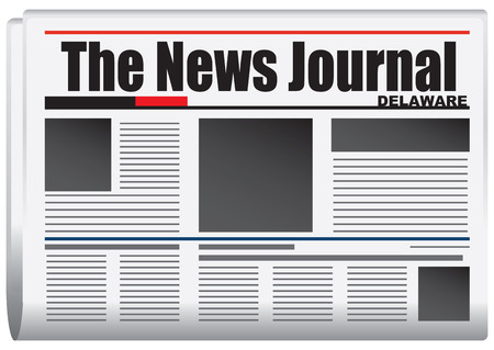 journalism: Abstract newspaper Delaware State, United States of America. The News Journal.