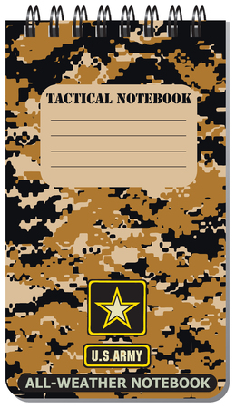 tactical: Tactical notebook for the army, used in all weathers.