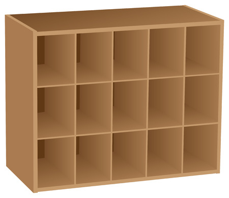 Fifteen sectional Cube Organizer for industrial and household placement of objects.