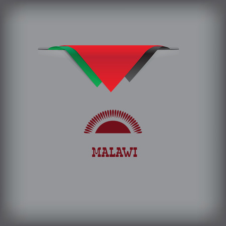 token: Banner Malawi with the national symbols of the country, and the colors of the flag.