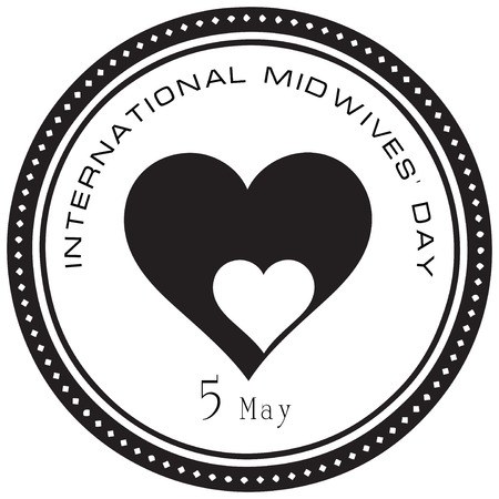 observance: International Midwives Day, event celebrated May 5th. Vector illustration.