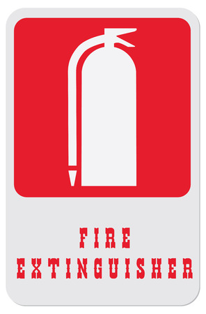 firealarm: This symbol indicates to find a fire extinguisher. Illustration