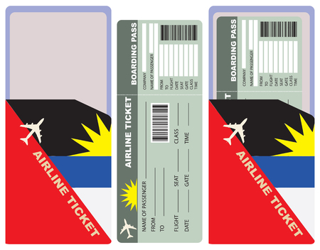 Flight with an envelope for the flight to Antigua and Barbuda.