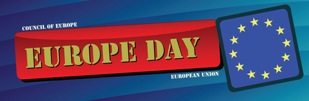 Banner for Europe Day 5 may and 9 may. Vector illustration.