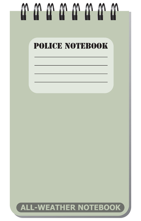 weatherproof: All-weather notebook used by police. Vector illustration. Illustration