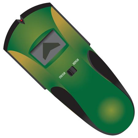 Electronic Stud Finder for industrial works. Vector illustration. Ilustrace