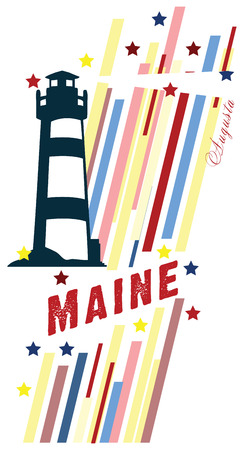 advertise with us: BannerMaine for the presentation of the US state. Vector illustration.