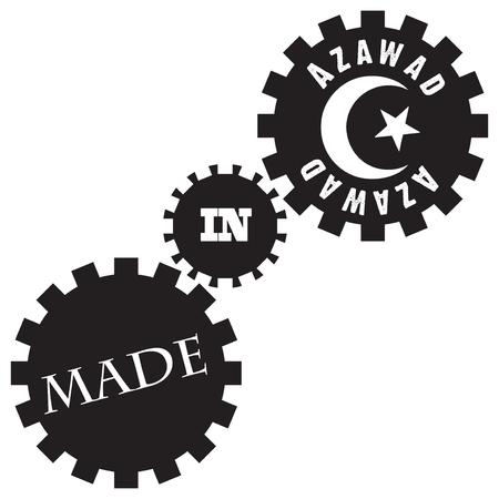 Creativity Made in Azawad, a set of industrial gears. Illusztráció