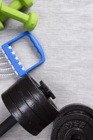 Sports accessories for practicing at home or fitness center. Imagens