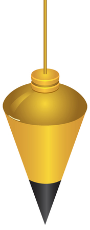 plumb: Instrument control vertical surface - Brass Plumb Bob.