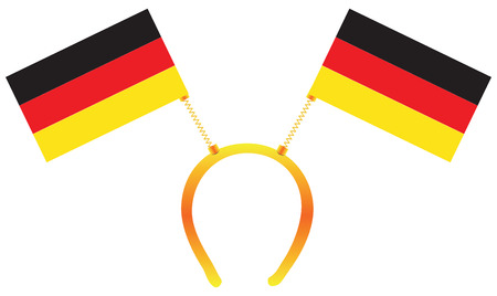 Headdress with a flag of Germany for holiday. Illustration