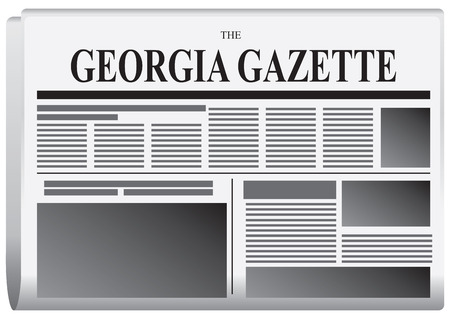 gazette: Abstract Georgia newspaper - The Georgia Gazette. Vector illustration. Illustration