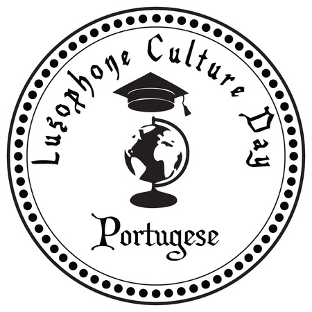 Lusophone Culture Day. Celebrated in May of Portuguese Speaking Countries Community. Иллюстрация