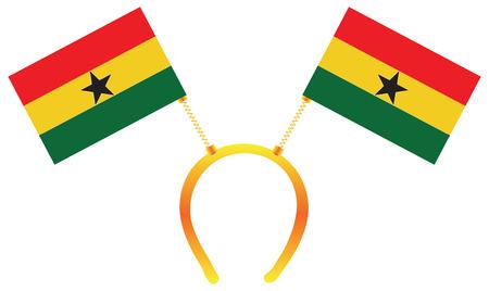 Headdress with a flag of Ghana for holiday.