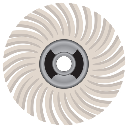 grind: Abrasive brush for industrial processing of external and internal surfaces.