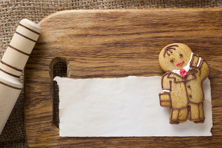 Cookies in the shape of a man, profession Manager