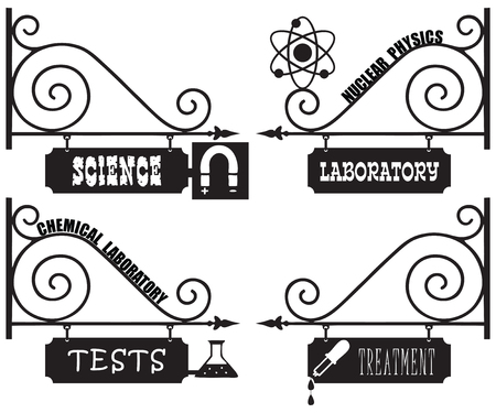 Set vintage street signs for the research stations and laboratories.