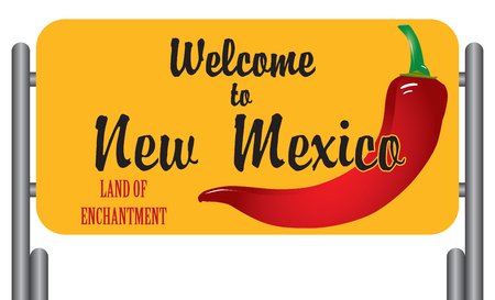 enchantment: Welcome to New Mexico. Land of  Enchantment.