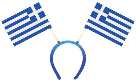 Headdress with a flag of Greece for holiday. 向量圖像