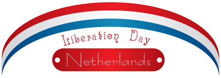 national holiday: National holiday in Netherlands, Liberation Day. Vector illustration. Illustration