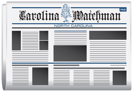 watchman: Abstract newspaper in state of North Carolina, Carolina watchman newspaper Illustration