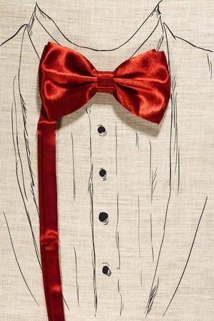 dinner jacket: Elegant concept using bowtie and paint suit Stock Photo