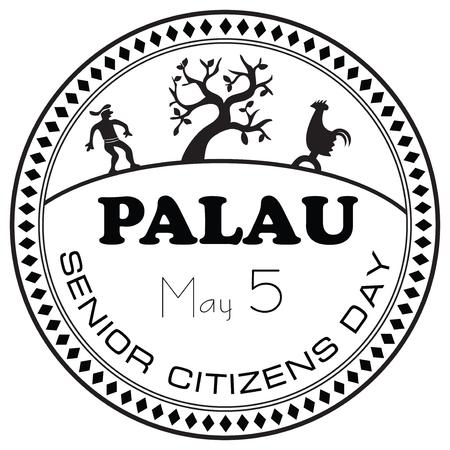 Senior Citizens Day Palau, celebrated May 5th. Illustration
