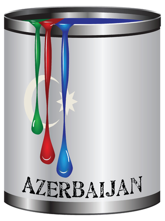 three colors: Three colors, the flag of Azerbaijan. The symbolism of the country. Illustration