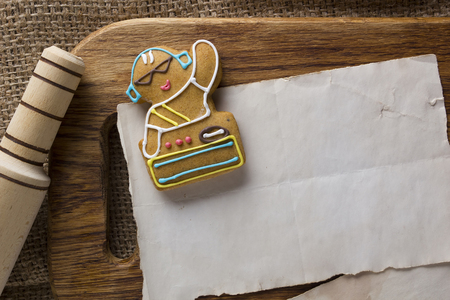 Cookies in the shape of man, profession DJ