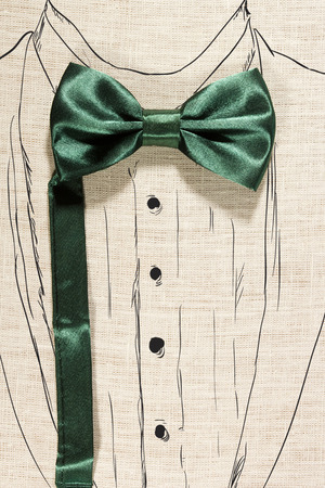 hanky: Elegant concept using bowtie and paint suit Stock Photo